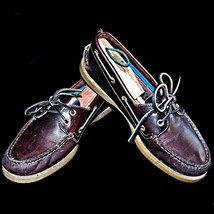 Sperry Amaretto Brown Topsiders 61317 Leather Loafer Two Eye Boat Shoes ... - $49.99