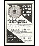 Herbert & Huesgen Co. NY Photo Meter Actino Heyde's No Guessing Photogra... - $12.99