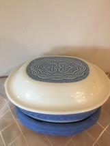 Longaberger American Craft Original Blue Casserole Dish, Lid & Basket Se... - $64.63