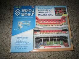 Box of 2 Spicy Shelf Adjustable Spice Racks - White - $30.68