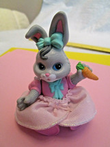 Fisher Price HIDEAWAY HOLLOW doll house MAMA BUNNY RABBIT Solid PVC Toy ... - $8.99