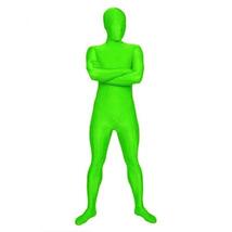 Fluorescent Green Lycra Spandex Bodysuit Zentai Catsuit Costume - $38.22