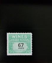 1951-54 67c U.S. Internal Revenue Cordial & Wine, Green Scott RE192 Mint... - $5.34