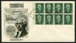 #1278a 1c Jefferson, Fleetwood Fdc **Any 4=FREE Shipping** - $1.50