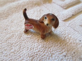 "DACHSHUND  , Mini , 1 1/4""X3/4""X1"", Vintage , Collectible , Ceramic  - $25.00"