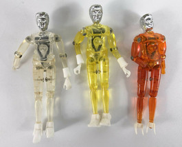 Lot 3 Mego Micronauts Time Treveler Clear Yellow Orange  See Pictures fo... - $98.99