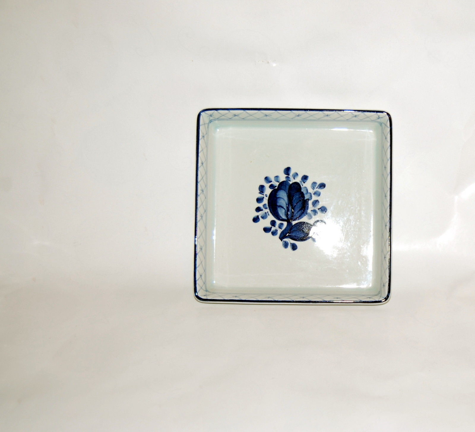 Royal Copenhagen Tranquebar Blue Square Dish 11 = 1791 - $25.00