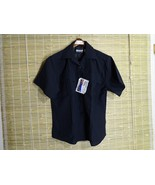 BLAUER MENS/WOMENS SECURITY/POLICE UNIFORM SHORT SLEEVE BLUE W ZIPPER SZ... - $17.63