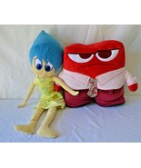 "Disney Pixar Inside Out Movie Stuffed Plush Set Anger (14"")  & Joy (29"") - $29.69"