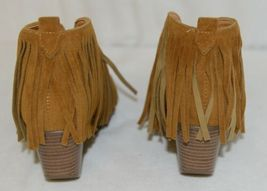 Beast Fashion Carrie 01 Camel Fringe Slip On Shoes Size Six image 4
