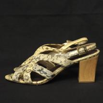 Size 7.5 M Sam Edelman Women's Luna Open Toe Sandals Snake Skin Print Le... - $15.00