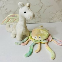 Lot Of 2 Ty Beanie Babies Magic The White Dragon Goochy The Jellyfish - $15.29