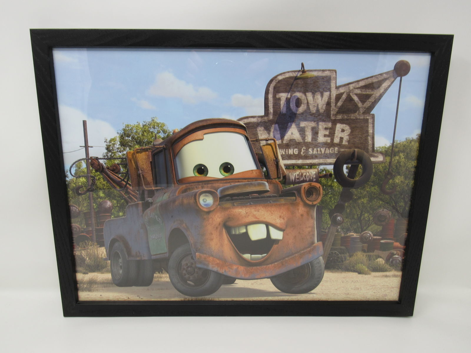 Classic Framed Poster Mater Cars Truck 17in L x 13in W x 1in H