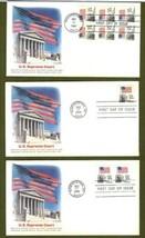 Set of 3 US FDC Scott # 1894 20c Flag over Supreme Court Fleetwood 1981 - $10.98