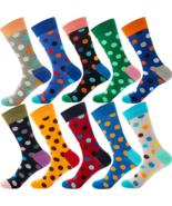 10Pairs/lot Socks Men Women Fun Print Design Party Dress Cotton Fit Size 38-45 - $29.99