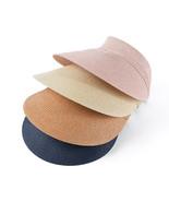 Hát New Ladies Summer Empty Straw Hat Paper Braid Hat Big Brim Visor Str... - $12.70