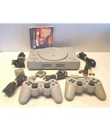 SONY PLAYSTATION ONE PS1 1 Console 2 Controllers SPCH-5501 Memory Card O... - $54.40