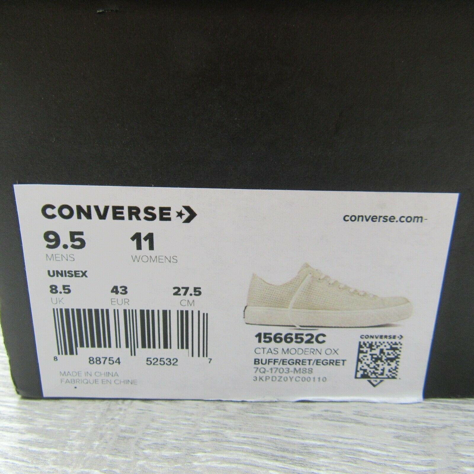Converse CTAS Modern OX Buff White Shoes Size 9.5 Mens NEW 156652C image 11