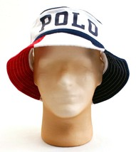 Polo Ralph Lauren Polo Red White & Blue Bucket Hat Adult  NWT - $59.99