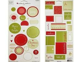 "Heidi Grace Words Cardstock Stickers ""Jolly & Bright"" #1-73117"