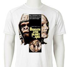 Beneath Planet Apes Dri Fit graphic Tshirt retro 80s sci fi movie SPF sun shirt image 2