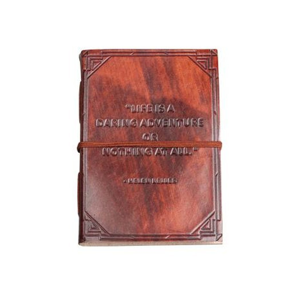 """A Daring Adventure"" Handmade Leather Journal"