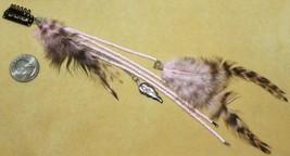 PINK FEATHER TRIBAL Hippie Boho Burlesque Belly Dancing Hair CLIP PIN EX... - €5,31 EUR