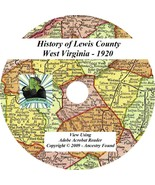 1920 - LEWIS County West Virginia WV - History Genealogy Families Books ... - $5.86