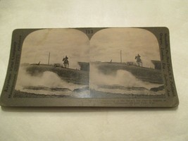 Devils Ink Pot Eruption Yellowstone National Park Man Horse Stereoview Card - $14.99
