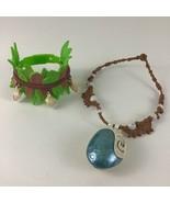 Disney Moana Magical Light Up Seashell Necklace Adjustable Arm Band Bracelet Lot - $35.59