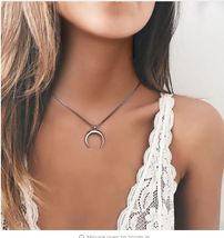 Risul Fashion OX Horn Charm Necklaces& pendants for Women Moon Necklaces Box Cha image 4