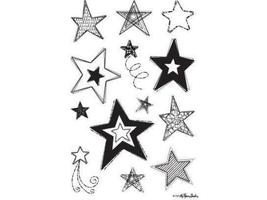 Stampabilities Sketch Stars Clear Cling Stamp Set #723205-CS090 - $8.99