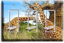 African Giraffe Love Animals 3 Gfci Light Switch Wall Plate Cover Room Art Decor - $16.19