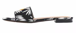 Who What Wear Women's Sloane Black & White Palm Slide Sandals See Ya New w Tags image 3
