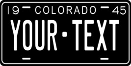 Colorado 1945 License Plate Personalized Custom Car Bike Motorcycle Moped Tag - $10.99+