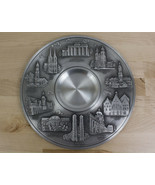 SKS ZINN 95% Pewter Plate German Cities Landmarks Berlin Wall Hanging Bu... - $39.59