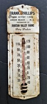 vintage UNION BEACH nj METAL SIGN THERMOMETER advertising FRANK PHILLIPS... - $67.95