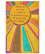 American Greetings Religious Sunshine Thank You Card With Glitter - $13.47