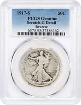 1917-S 50c PCGS Good Details (Reverse, Scratch) - Walking Liberty Half D... - $24.25