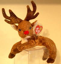 TY BEANIE BABIES 2000 COLLECTIBLE – ROXIE THE RED NOSE REINDEER – RETIRE... - $13.07