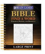 Brain Games - Bible Find a Word - Large Print [Spiral-bound] Publication... - $14.85