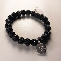 Liz Claiborne Black Beaded Stretch Bracelet - New - $12.87