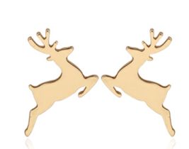 5 pairs of Deer christmas Golden Stud Earring Stud (NED174A) - $12.50