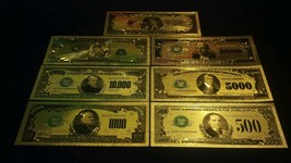 <MINT PROOF SET W/COA>GOLD$500-$1Billion~Rep.*Banknotes~RAISED DETAIL~U.S  - $23.34
