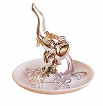 PUDDING CABIN Elephant Ring Holder Jewelry Dish Trinket Tray for Girls W... - ₹1,329.84 INR