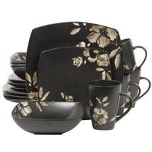 Gibson Lanark 16-Piece Dinnerware Set,  Black - $94.13