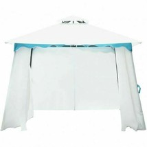 Durable 2-Tier 10' x 10' Patio Gazebo Canopy Tent w/Side Walls - $293.36