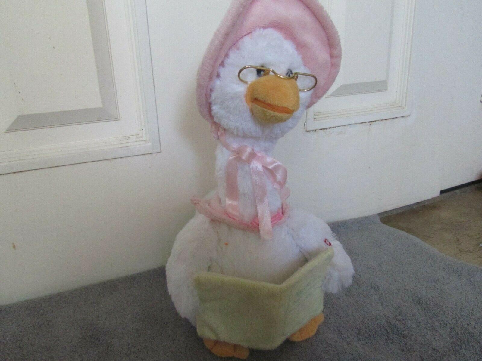 Mother Goose Nursery Rhyme Talking Animated Plush Doll 7 Rhymes Cuddle Barn