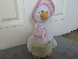 Mother Goose Nursery Rhyme Talking Animated Plush Doll 7 Rhymes Cuddle Barn - $13.25