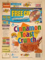 Mt General Mills Cereal Box Cinnamon Toast Crunch 2000 14oz [G7D5d] - $11.16